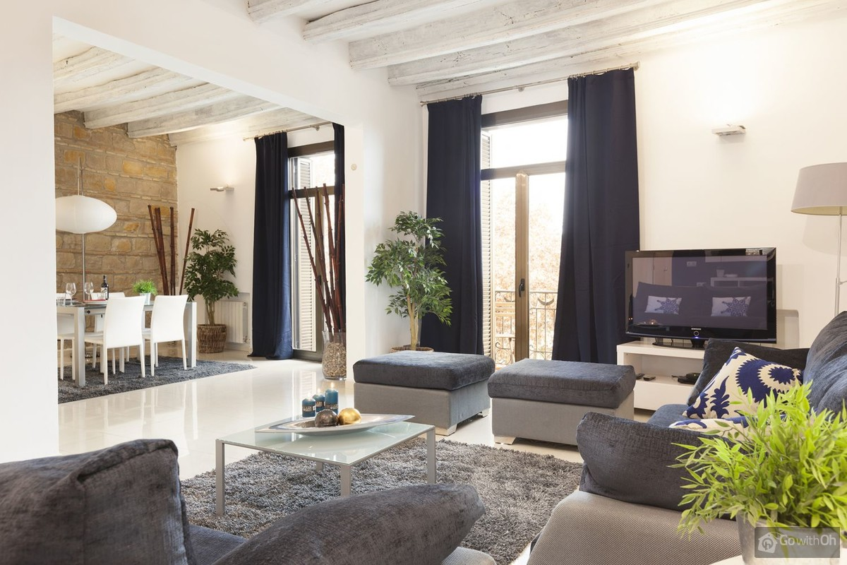 Antike Sofas Contemporary Holiday Apartments Barcelona Elegantly Designed Flat