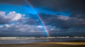 Rainbow on the beach, Strand