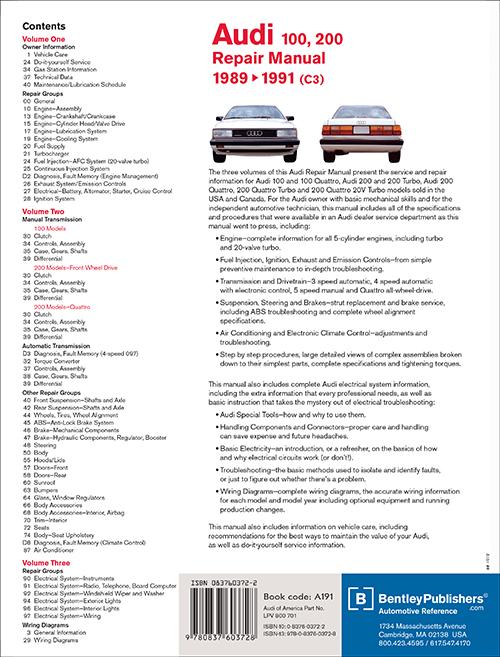 audi 100 200 1989 repair service manual