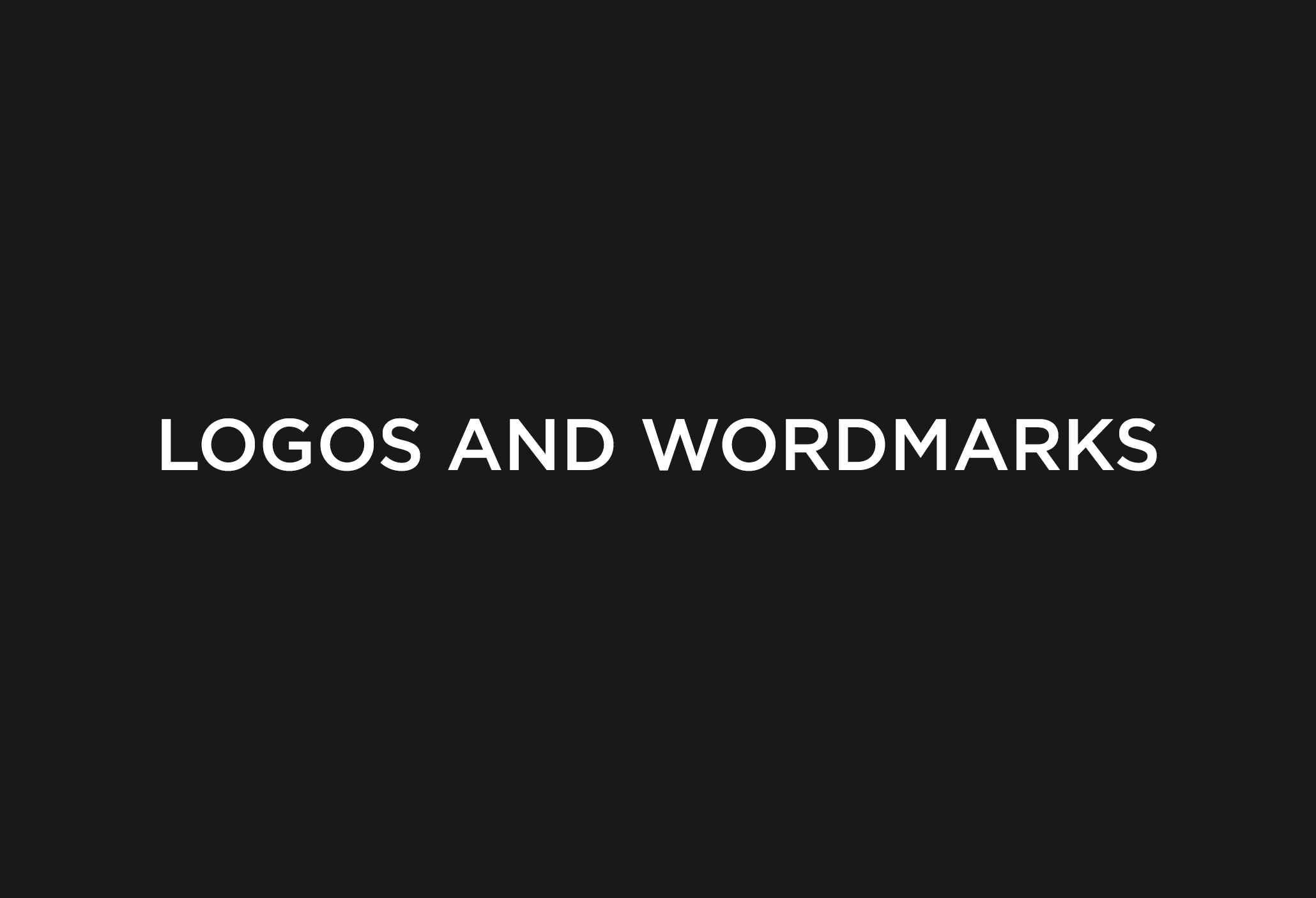 Various logos and wordmarks