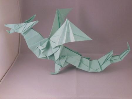 Make Origami Dragon A4 Paper
