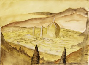 de Michelangelo, 11x13, March 2012, Ink, Water Color