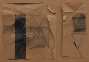 This is Not a Paper Bag, Nov 2009, 17x20, Paper Bag, Graphite, Chalk, Marker