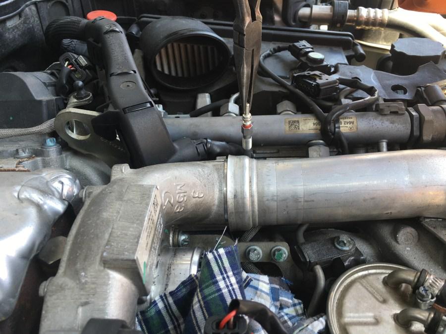 W211CDIのグロープラグ交換