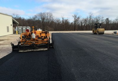 Commercial parking lot paving