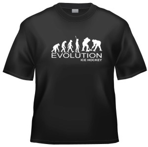 Evolution Ice hockey t-shirt