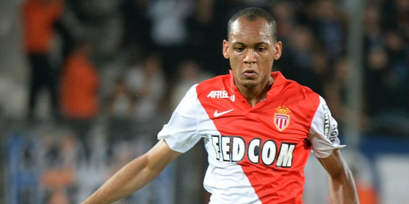Monaco's Brazilian defender Fabinho controls the ball, during their French L1 football match Montpellier versus Monaco at the Mosson stadium in Montpellier, September 24, 2014. AFP PHOTO / BORIS HORVAT (Photo credit should read BORIS HORVAT/AFP/Getty Images)