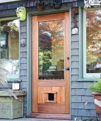 Entry Door with Pet Door - Berkeley Mills