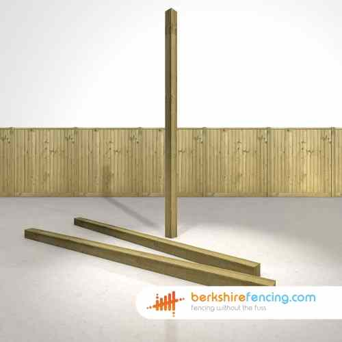 Medium Of Wooden Fence Post