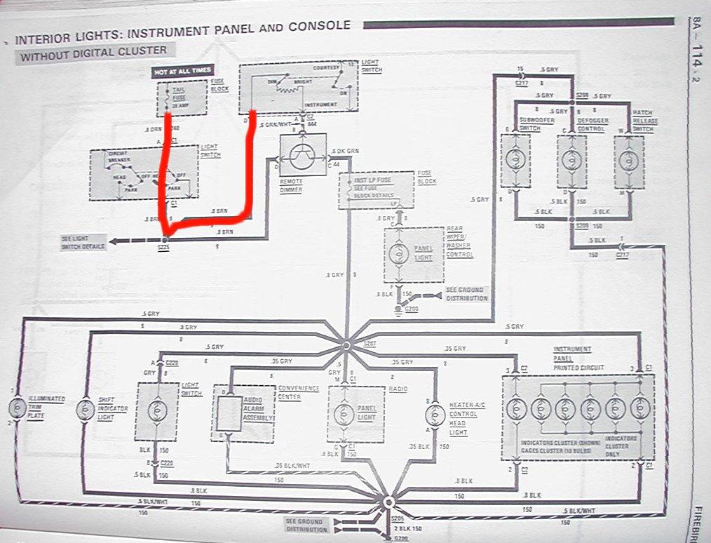 81 firebird wiring diagram schematic