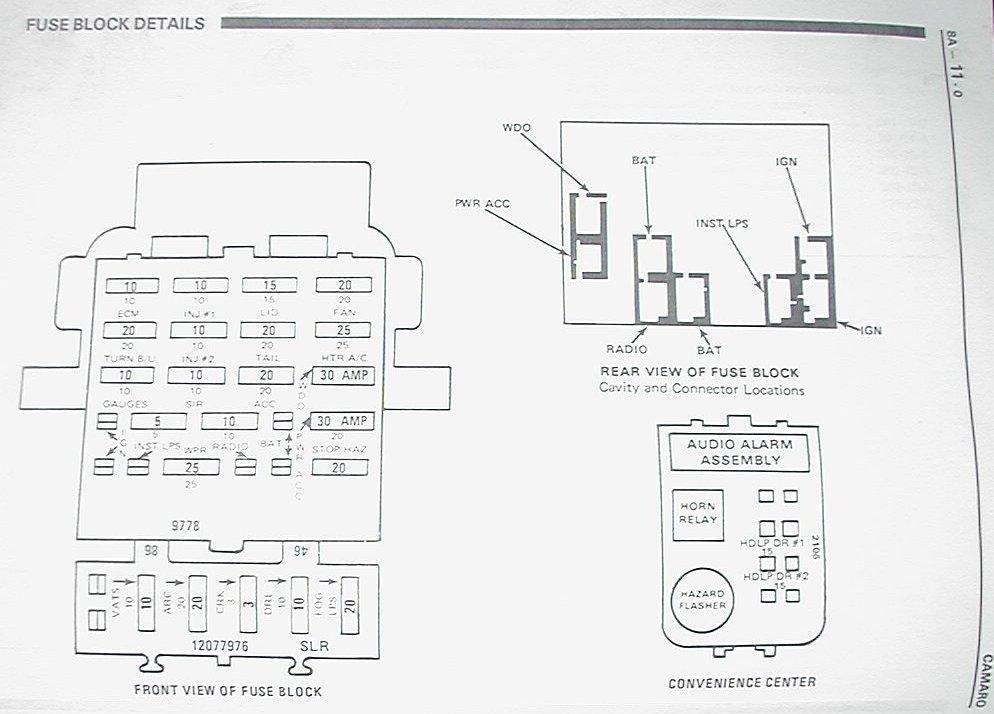 1967 camaro fuse box schematic