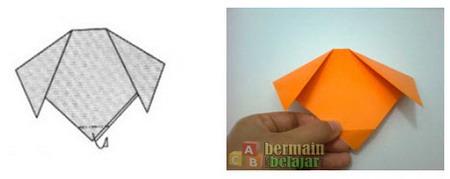 Membuat Origami Anjing d