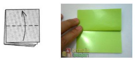membuat origami kodok c