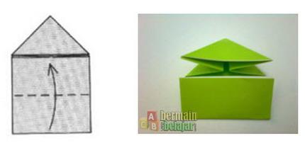 membuat origami kodok h