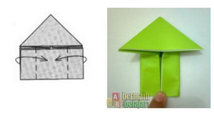 membuat origami kodok i