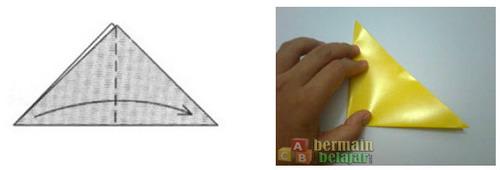 Membuat Origami Kucing b