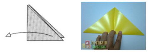Membuat Origami Kucing c