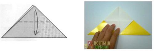 Membuat Origami Kucing d