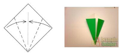 Membuat Origami Batang Bunga c