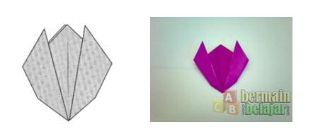 Membuat Origami Bunga Tulip f