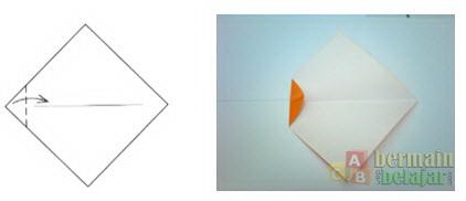 Membuat Origami Ikan c