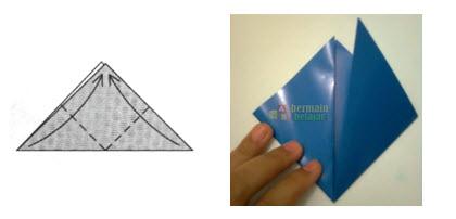 Membuat Origami Topi Samurai b