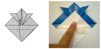 Membuat Origami Topi Samurai f