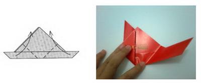 Membuat Origami Kelinci c