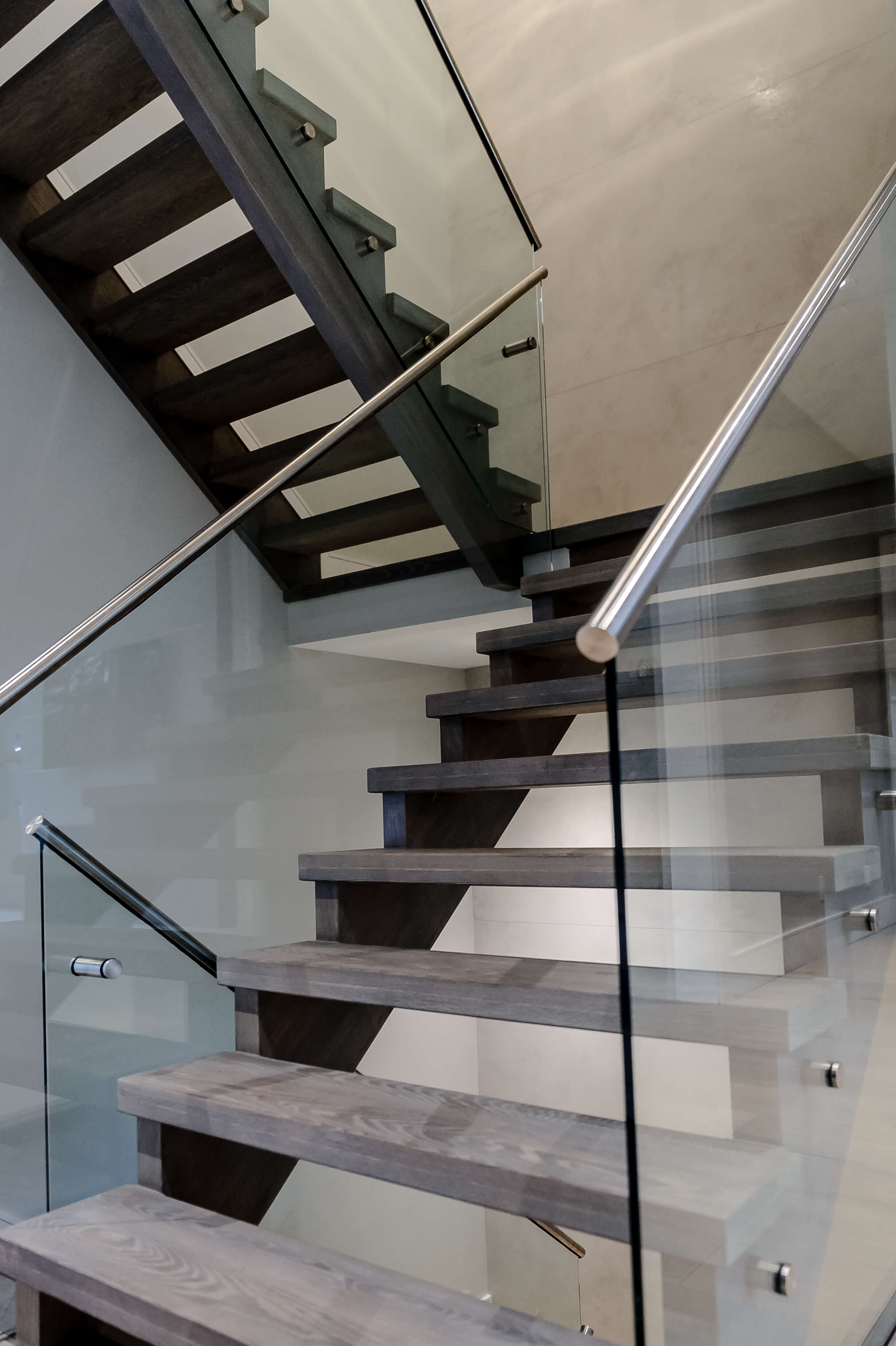 Open Staircase Design Marble Steel Glass Wood Stair Case Designs By Berman Stairs Inc