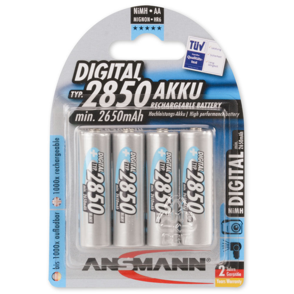 Aa Akku Home Accessories Accessories Batteries Ansmann Digital Nimh Rechargeable Battery Aa Type 2850 Mah