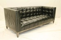 Tufted Leather Sofa Bed Vintage Leather Tufted ...
