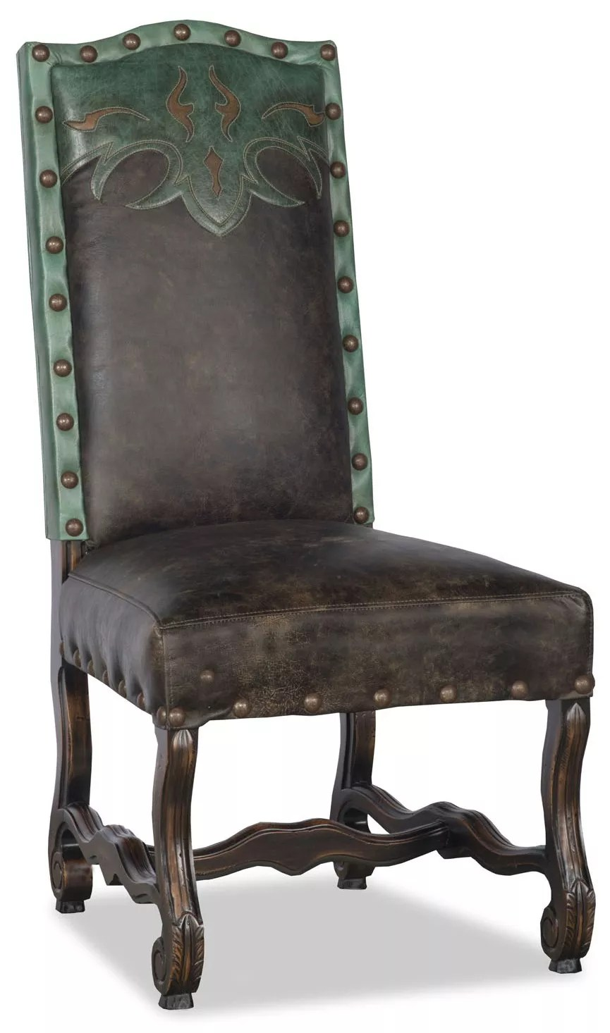 Leather Dining Room Chairs Western Style Leather Dining Room Chair