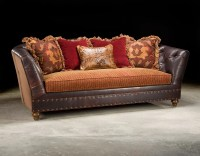 Fabric And Leather Sofa  TheSofa