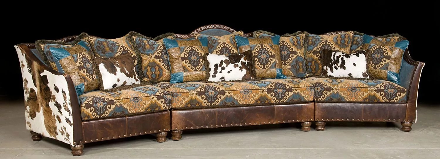 Patchwork Sofa Pony And Teal Blue Sectional Sofa Couch Leather Patchwork
