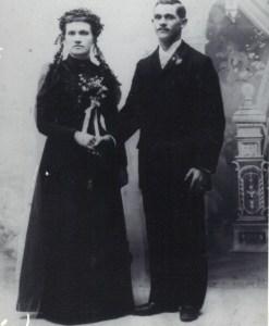 William and Hulda (Schultz) on their wedding day