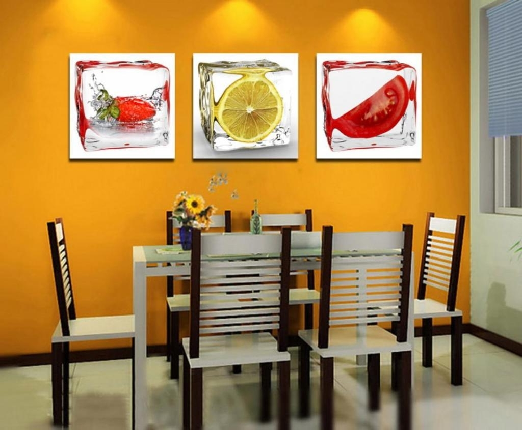 Fruit Themed Kitchen Decor Collection 15 Best Collection Of Abstract Wall Art For Dining Room