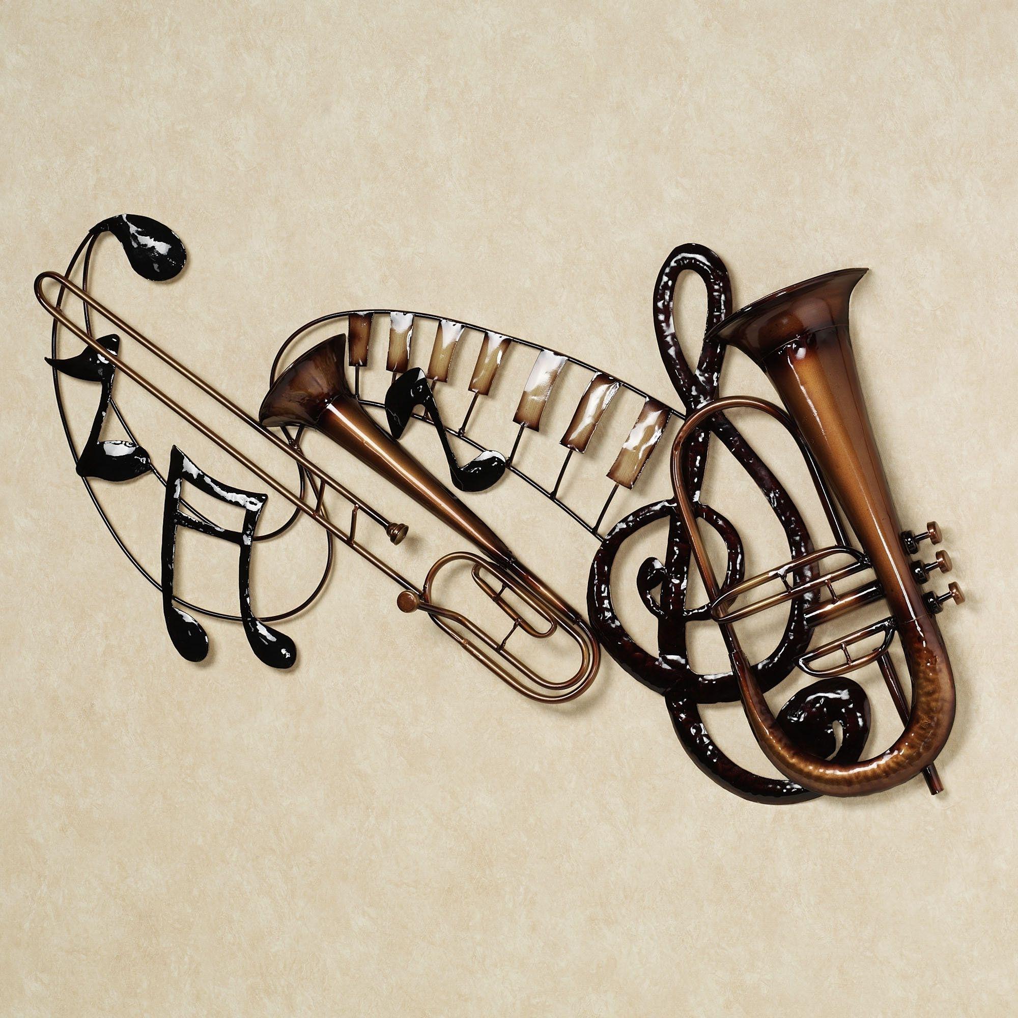 Music Notes Metal Wall Art 15 The Best Metal Music Notes Wall Art