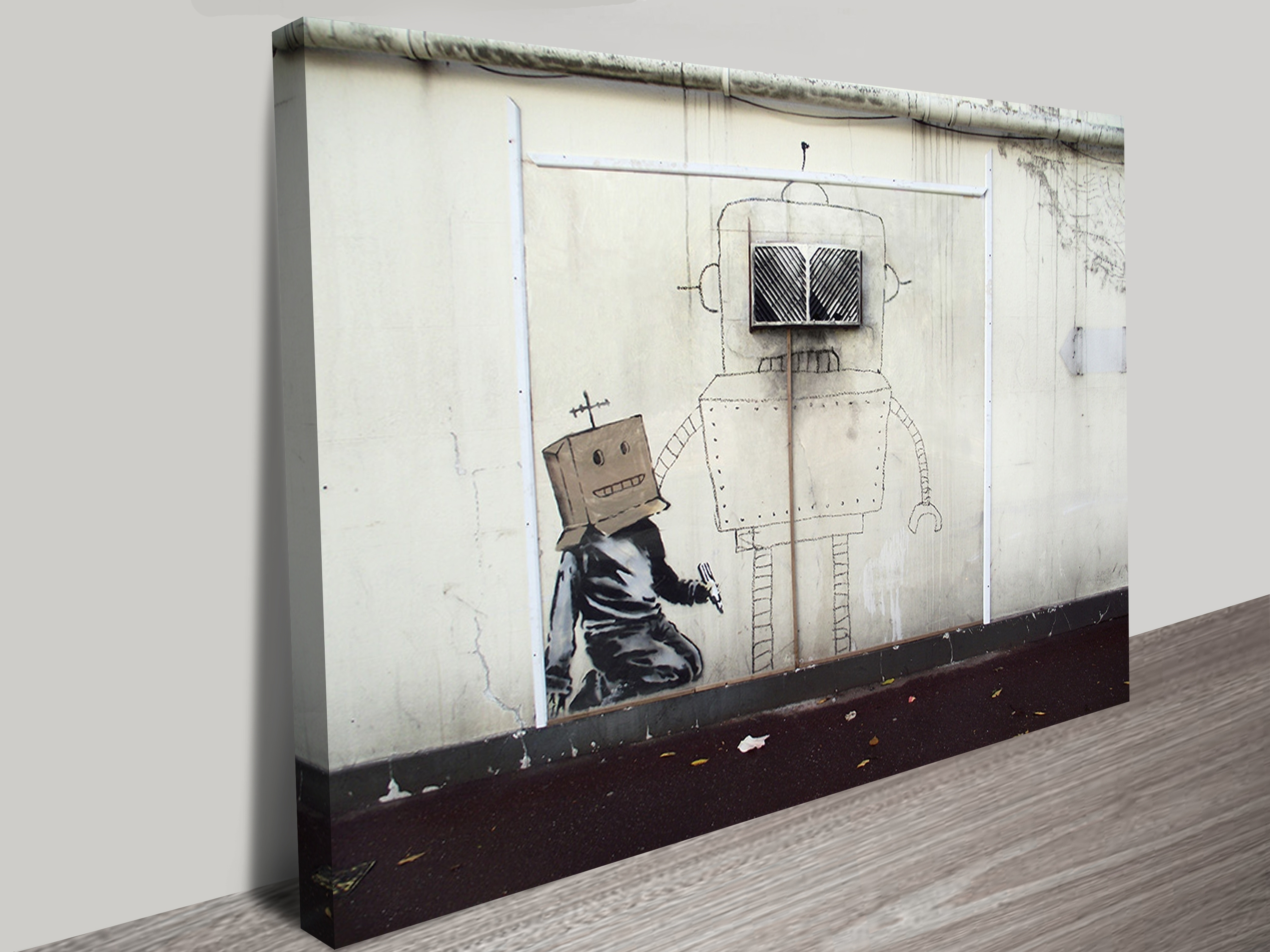 Banksy Canvas Art Displaying Gallery Of Banksy Canvas Wall Art View 2 Of 15 Photos