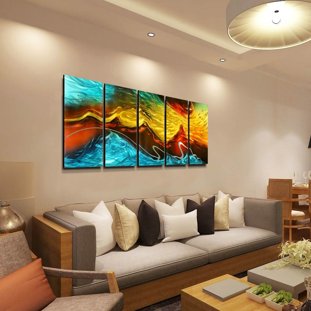 Wall Art Living Room 15 The Best Abstract Wall Art For Living Room
