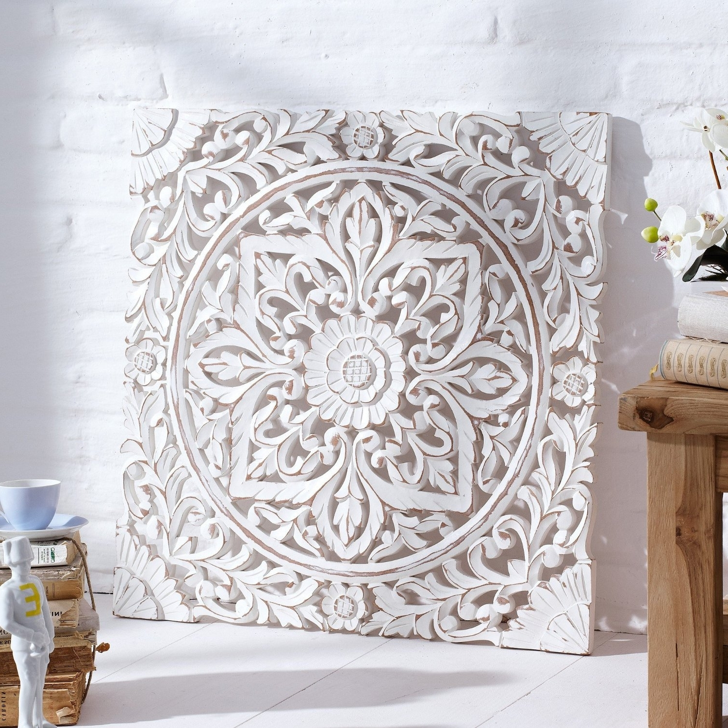 Carved Wood Wall Art Australia 15 The Best White Wooden Wall Art
