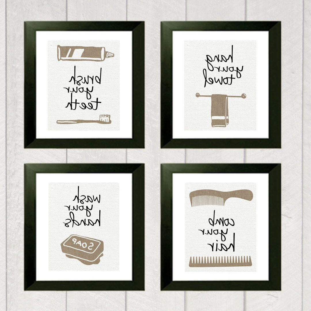 Bathroom Wall Art And Decor 15 Collection Of Kids Bathroom Wall Art