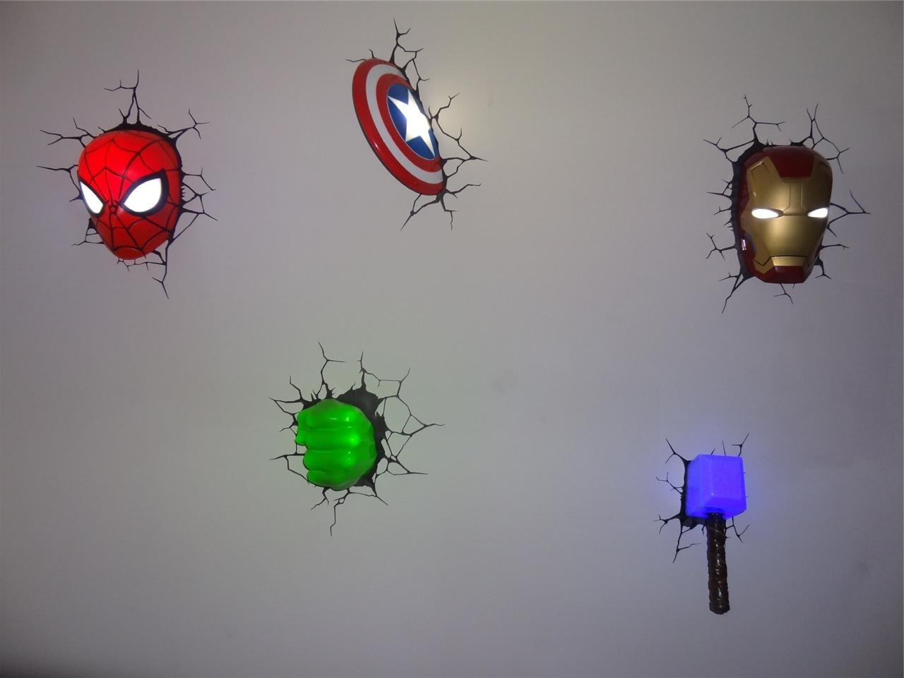 3d Wall Art Night Light 2019 Best Of The Avengers 3d Wall Art Nightlight
