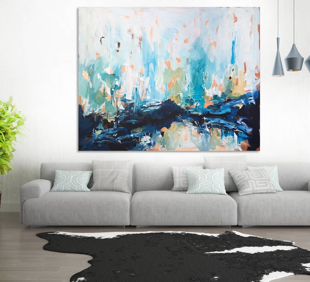 Living Room Paintings 15 Ideas Of Abstract Wall Art Living Room