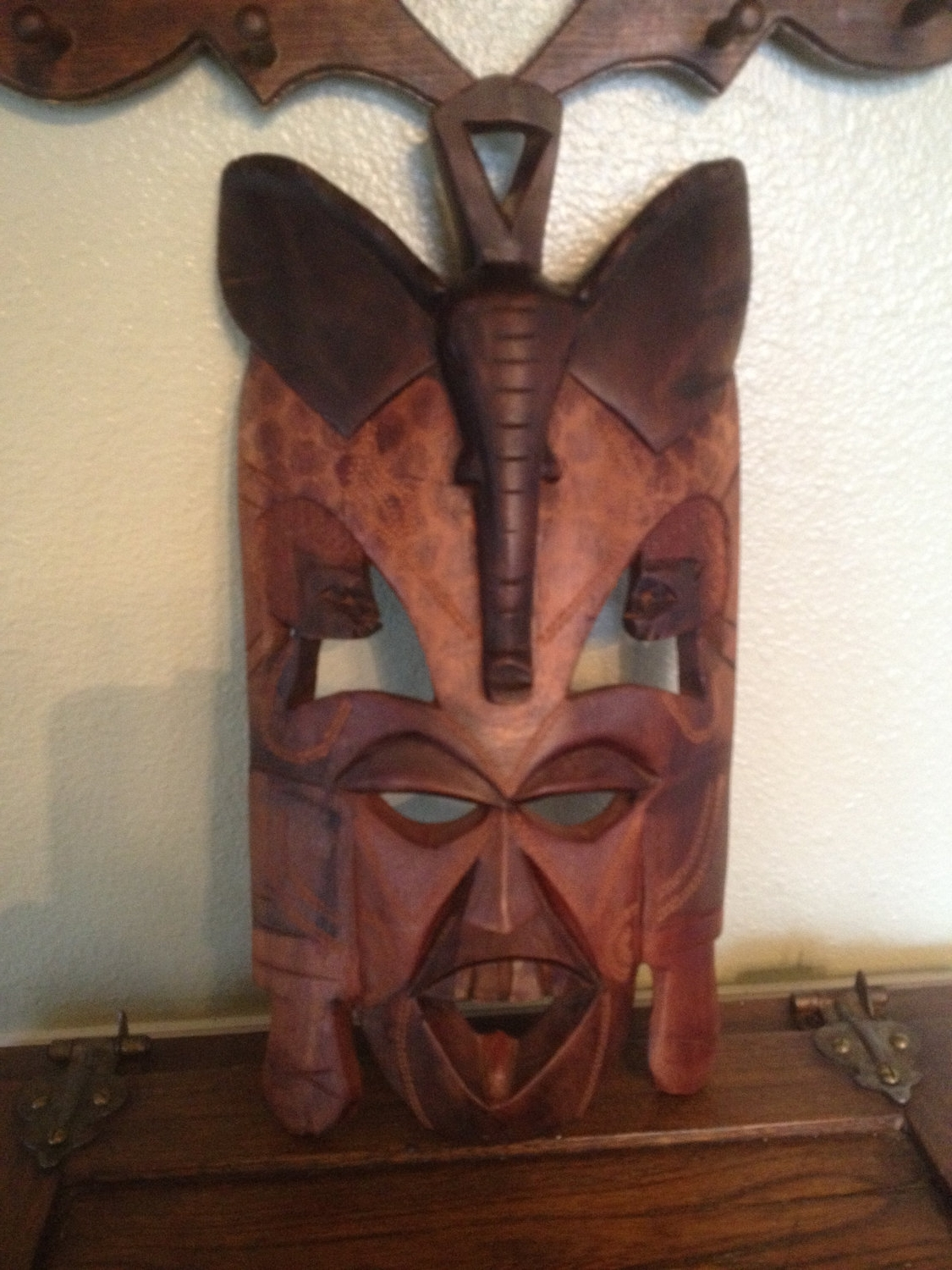 African Wooden Wall Art 2018 Popular Wooden Tribal Mask Wall Art
