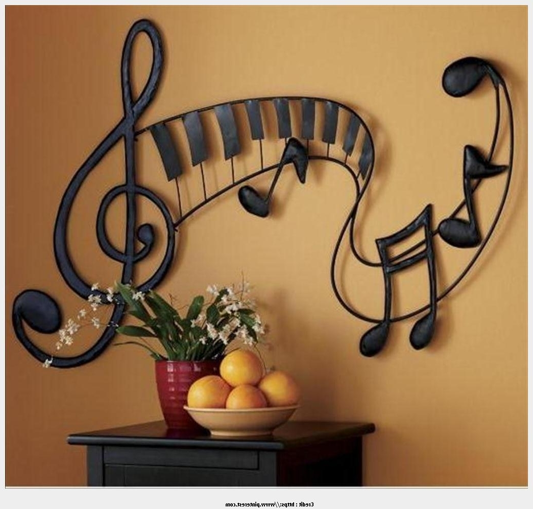 Music Notes Metal Wall Art 15 Photos Music Theme Wall Art