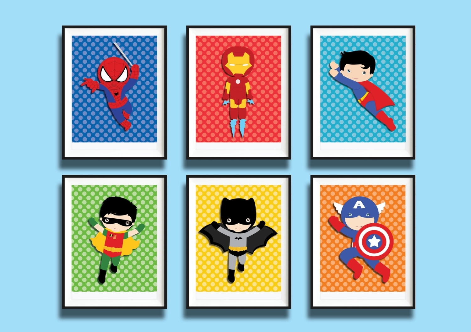 Super Hero Wall Art 15 Best Collection Of Superhero Wall Art For Kids
