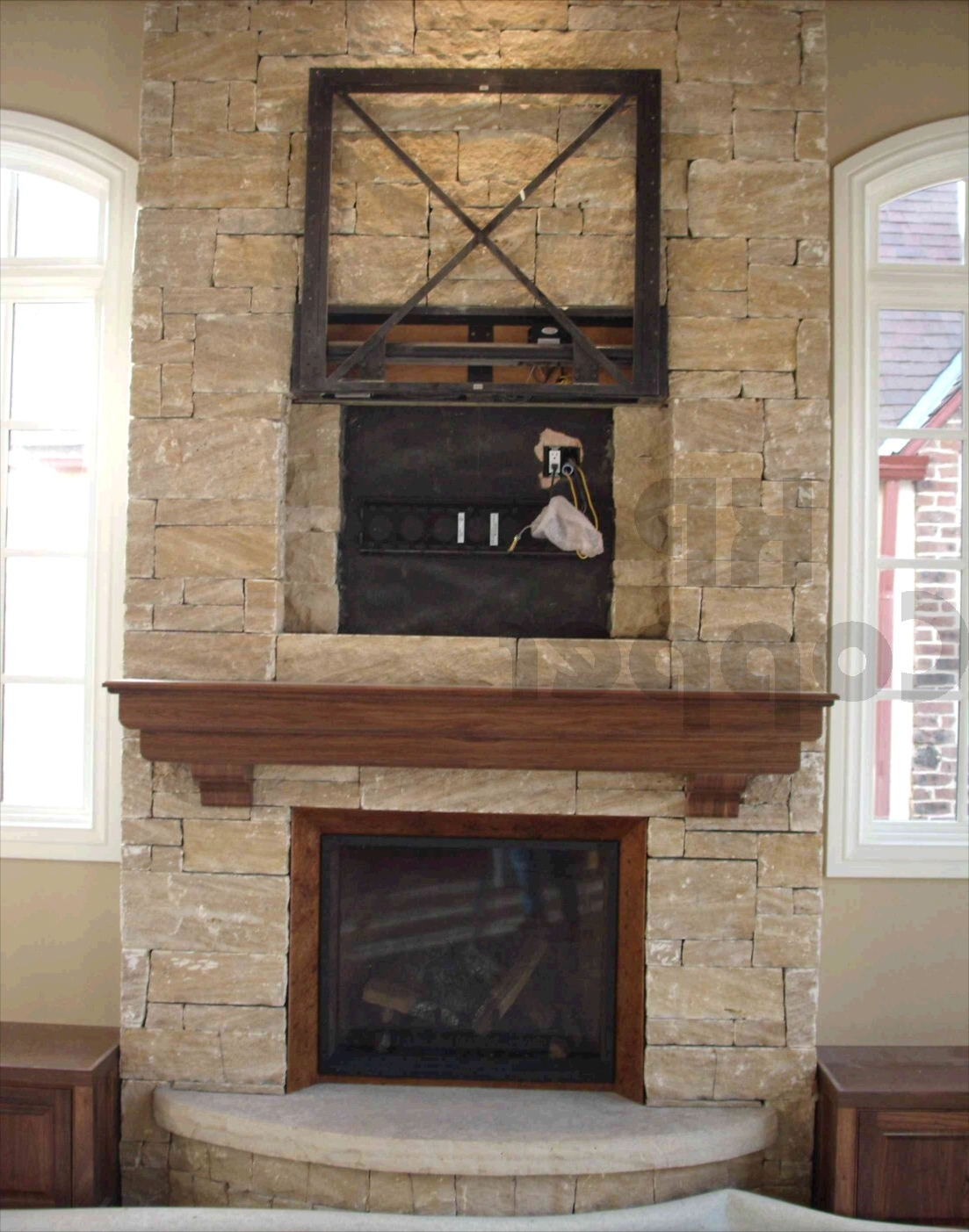 Fireplace Decal 15 The Best Fireplace Wall Art