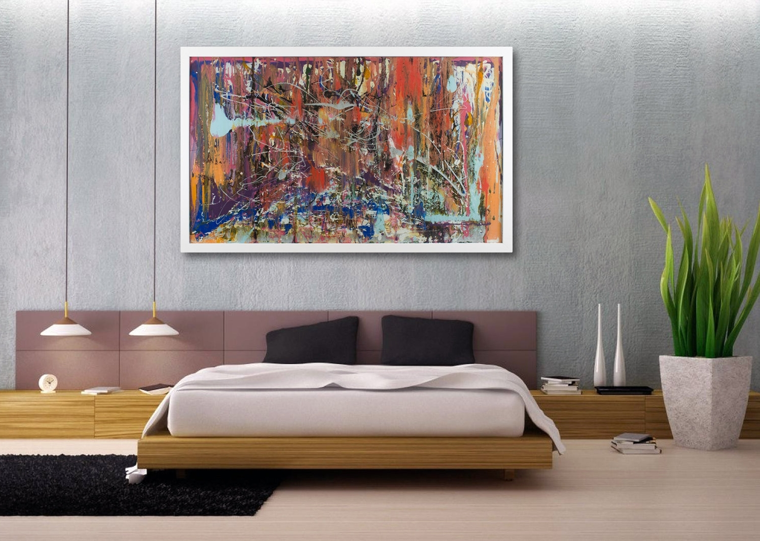 Large Modern Wall Art 15 Best Large Framed Abstract Wall Art