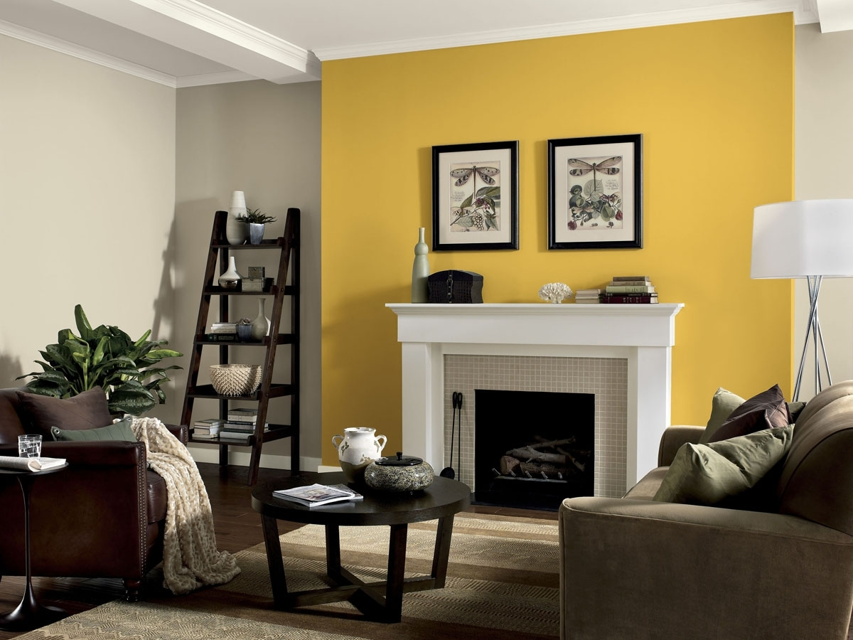 Accent Table Decor Ideas 15 Best Collection Of Yellow Wall Accents