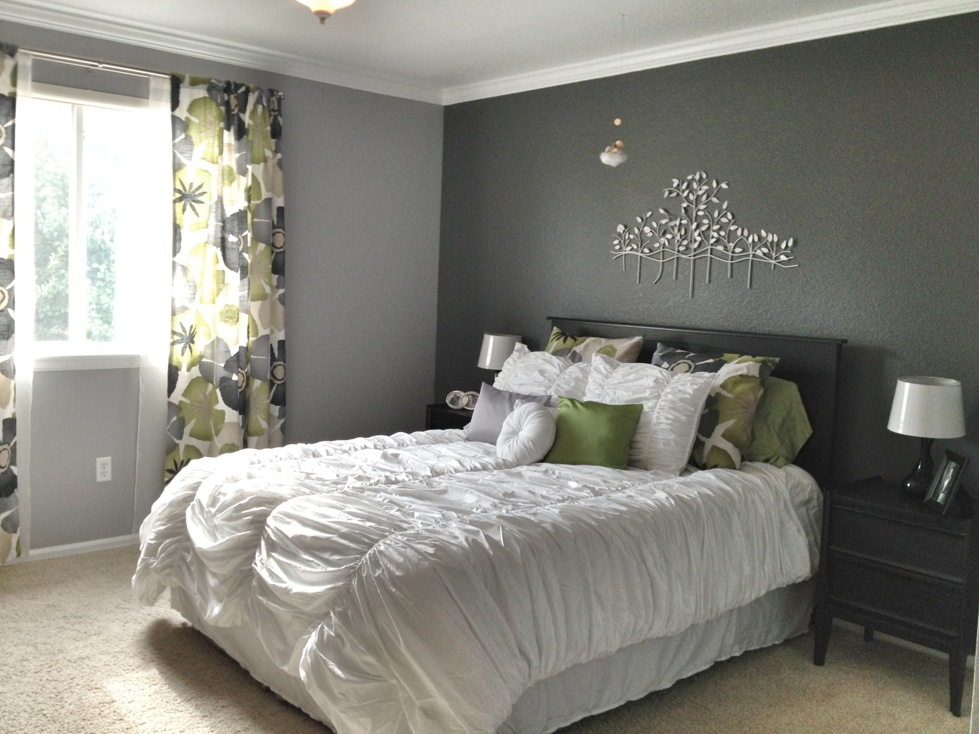 Dark Grey Bedroom Walls 15 Best Collection Of Gray Wall Accents